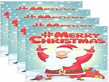 Tischsets für Esstisch mit Weihnachtsmotiv und