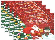 Tischsets für Esstisch, Weihnachten, Neujahr,