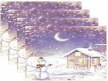 Tischsets für Esstisch, Weihnachten, Winter,
