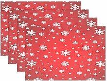 Tischsets mit Schneeflocken-Motiv, für Küche,