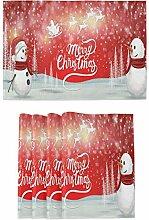 Tischsets mit Weihnachtsmann und Schneemann und