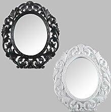 Tischspiegel Kosmetikspiegel Standspiegel Wandspiegel Schwarz Weiß Antik Barock Spiegel (Weiß)
