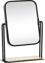 Tischspiegel Marit Metall schwarz/natur