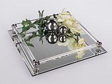 Tischspiegel, Spiegeltablett, Deko Spiegel, 30x30cm, rechteckig, Glas, Formano (24,90 EUR / Stück)