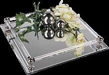 Tischspiegel, Spiegeltablett, Deko Spiegel 30x30cm rechteckig Glas Formano (24,90 EUR / Stück)