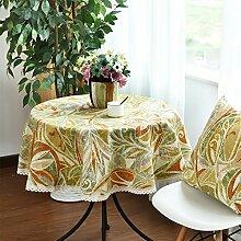 Tischtuch/Amerikanische Baumwolle Und Leinen Tischdecken/Stoff-decke-D 140x140cm(55x55inch)