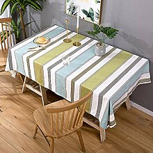 Tischtuch aus Baumwolle und Leinen,Rechteckige