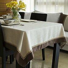 Tischtuch/Chinesischen Modernen Minimalistischen Couchtisch Tischdecken/Treffen Tisch Tischdecke-B 140x140cm(55x55inch)
