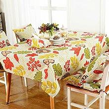 Tischtuch cotton couchtisch cloth bett tv schrank klimaanlage kühlschrank staub-proof cover cloth-A 110x160cm(43x63inch)