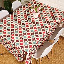 Tischtuch Dekoration Für Restaurant,Küche Moderne Kreativ Persönlichkeit Tischdecke Baumwolle Leinen-D 140x200cm(55x79inch)