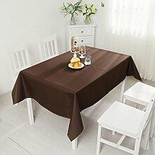 Tischtuch Einfarbig Wasserdicht Tischdecke Rechteck Tischdecke Tischdecke Tischdecke,A-100*140cm