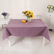 Tischtuch Einfarbig Wasserdicht Tischdecke Rechteck Tischdecke Tischdecke Tischdecke,E-140*180cm