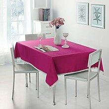Tischtuch europäisch lÄndlichen verdicken sie volltonfarbe hotels restaurant rechteckige tischdecke stoff-tischdecke tischtuch-F 140x140cm(55x55inch)