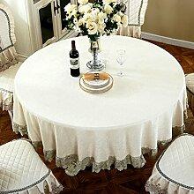 Tischtuch europäisch runde tischdecke chenille gewebe living room hausgebrauch runde tischdecke hotels tischtuch-B 150x150cm(59x59inch)