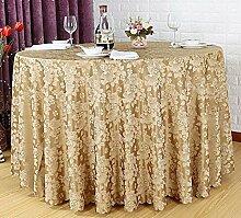 Tischtuch Europäisches Hotel Tischdecke Rundtisch Tuch Runder Tisch Tischdecke Tisch Rock Restaurant Hotel Couchtisch Tapete Tischsets ( Farbe : C , größe : Round 2.6m )