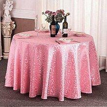 Tischtuch Europäisches Hotel Tischdecke, Stoff runder Speisetisch, Hotel-Gaststätte-Tabelle Kaffeetisch-Tuch Kundenspezifische Tabelle runde Tisch-Tischdecke Tischsets ( Farbe : A , größe : Circle 3.4m )