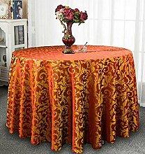 Tischtuch Europäisches Hotel Tischdecke, Stoff runder Speisetisch, Hotel-Gaststätte-Tabelle Kaffeetisch-Tuch Kundenspezifische Tabelle runde Tisch-Tischdecke Tischsets ( Farbe : B , größe : Square 1.4*1.4m )