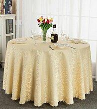 Tischtuch Europäisches Hotel Tischdecke, Stoff runder Speisetisch, Hotel-Gaststätte-Tabelle Kaffeetisch-Tuch Kundenspezifische Tabelle runde Tisch-Tischdecke Tischsets ( Farbe : B , größe : Square 1.8*1.8m )
