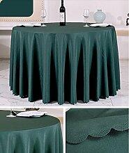 Tischtuch Europäisches Hotel Tischtuch Rund Tischdecke Dickheit Pure Schwarz Tisch Stoff Stoff Hochzeit Hotel Tischdecke Rund Tischsets ( Farbe : A2 , größe : Rounds 1.6m )