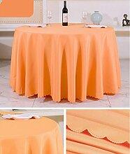 Tischtuch Europäisches Hotel Tischtuch Rund Tischdecke Dickheit Pure Schwarz Tisch Stoff Stoff Hochzeit Hotel Tischdecke Rund Tischsets ( Farbe : A , größe : Rounds 3.4m )