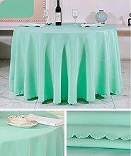 Tischtuch Europäisches Hotel Tischtuch Rund Tischdecke Dickheit Pure Schwarz Tisch Stoff Stoff Hochzeit Hotel Tischdecke Rund Tischsets ( Farbe : A3 , größe : Rounds 2m )
