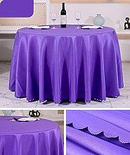 Tischtuch Europäisches Hotel Tischtuch Rund Tischdecke Dickheit Pure Schwarz Tisch Stoff Stoff Hochzeit Hotel Tischdecke Rund Tischsets ( Farbe : A1 , größe : Rounds 2.6m )