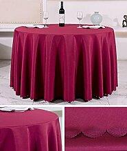 Tischtuch Europäisches Hotel Tischtuch Rund Tischdecke Dickheit Pure Schwarz Tisch Stoff Stoff Hochzeit Hotel Tischdecke Rund Tischsets ( Farbe : B , größe : Rounds 3.2m )