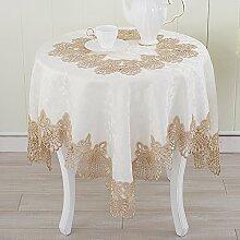 Tischtuch european style hollow lace tischtuch tv schrank tuch schreibtisch-B Durchmesser150cm(59inch)