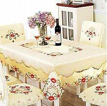 Tischtuch European-style Stickerei Tischdecke, Tisch ClothCloth TischdeckeCoffee Tischdecke Tischdecke Tischsets ( Farbe : A3 , größe : 142×200cm )