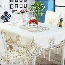 Tischtuch European-style Stickerei Tischdecke, Tisch ClothCloth TischdeckeCoffee Tischdecke Tischdecke Tischsets ( Farbe : A8 , größe : 142×200cm )