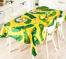 Tischtuch, Full Size Ländlichen Stil Grün Pflanze Dicke Leinen Esstisch Abdeckung Tuch ( Farbe : #4 , größe : 100x140cm )