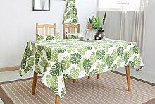 Tischtuch, Full Size Ländlichen Stil Grün Pflanze Dicke Leinen Esstisch Abdeckung Tuch ( größe : 100x140cm )