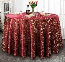 Tischtuch Hotel-Tischdecke-Tuch europäisches Gaststätte-Hotel-Tischdecke nach Maß Kaffee-Tabellen-runde runde Tisch-Tischdecke-Tischdecke Tischsets ( Farbe : B , größe : 360cm )