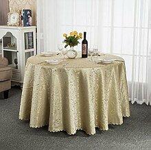Tischtuch Hotel-Tischdecke-Tuch europäisches Gaststätte-Hotel-Tischdecke nach Maß Kaffee-Tabellen-runde runde Tisch-Tischdecke-Tischdecke Tischsets ( Farbe : B , größe : 340cm )