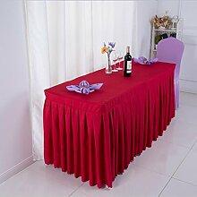 Tischtuch Konferenztischdecke Tisch Rock Stoff Tischdecke Aktivitäten Kälte Tischtuch, Schild, Tisch Rock Tischdecke Tischsets ( Farbe : B , größe : 2# )