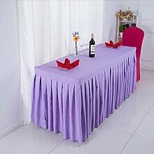 Tischtuch Konferenztischdecke Tisch Rock Stoff Tischdecke Aktivitäten Kälte Tischtuch, Schild, Tisch Rock Tischdecke Tischsets ( Farbe : B , größe : 6# )