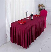 Tischtuch Konferenztischdecke Tisch Rock Stoff Tischdecke Aktivitäten Kälte Tischtuch, Schild, Tisch Rock Tischdecke Tischsets ( Farbe : D , größe : 6# )