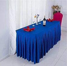 Tischtuch Konferenztischdecke Tisch Rock Stoff Tischdecke Aktivitäten Kälte Tischtuch, Schild, Tisch Rock Tischdecke Tischsets ( Farbe : A , größe : 2# )
