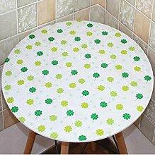 Tischtuch PVC runde Tisch Tisch Stoff wasserdicht und Öl frei waschen runde Tisch Mats Couchtisch Matte Kunststoff Tischsets ( Farbe : A3 , größe : 90cm round )