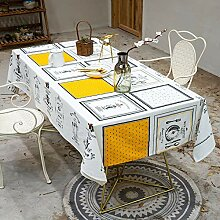 Tischtuch Quadratisch, abwaschbare Linen