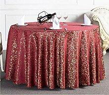 Tischtuch Runde Tischdecke Tischdecke Kaffeetischdecke Europäische Restaurant Hotel Tischdecke Platz Tischdecke Runde Tisch Tisch Rock Tischsets ( Farbe : D , größe : 9# )