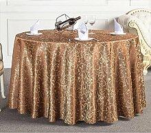Tischtuch Runde Tischdecke Tischdecke Kaffeetischdecke Europäische Restaurant Hotel Tischdecke Platz Tischdecke Runde Tisch Tisch Rock Tischsets ( Farbe : F , größe : 5# )