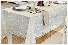 Tischtuch Spitze Pastoral Tischtuch stickten Spitze Tischdecke Tisch Tetabellentuch Sand Veröffentlichung modernen minimalistischen Stil Tischsets ( Farbe : A , größe : 10# )