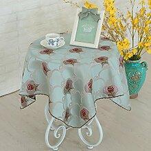 Tischtuch Stoff-tischdecke Moderne einfache rechteckige pastorale tischtuch Runde tischdecke-A 130x180cm(51x71inch)