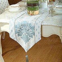 Tischtuch stoffe tischläufer europäisch neue klassische tischdecke tee tischdecke bett-runner-C 34x210cm(13x83inch)
