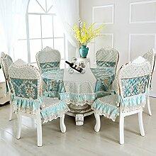 Tischtuch/Stuhl Abdeckung Pad Set-stil Sessel Couchtisch Großen Tisch Tischdecke/Der Stil Der Abgerundete Rechteckige Tischdecke-C 130*180cm(51x71inch)