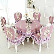 Tischtuch/Stuhl Abdeckung Pad Set-stil Sessel Couchtisch Großen Tisch Tischdecke/Der Stil Der Abgerundete Rechteckige Tischdecke-R 150x150cm(59x59inch)