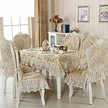Tischtuch/Stuhl Abdeckung Pad Set-stil Sessel Couchtisch Großen Tisch Tischdecke/Der Stil Der Abgerundete Rechteckige Tischdecke-J 200cm(79inch)