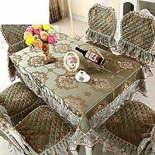 Tischtuch/Stuhl Abdeckung Pad Set-stil Sessel Couchtisch Großen Tisch Tischdecke/Der Stil Der Abgerundete Rechteckige Tischdecke-L 150*200cm(59x79inch)