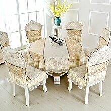 Tischtuch/Stuhl Abdeckung Pad Set-stil Sessel Couchtisch Großen Tisch Tischdecke/Der Stil Der Abgerundete Rechteckige Tischdecke-B 130*180cm(51x71inch)
